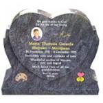 heart headstone memorials