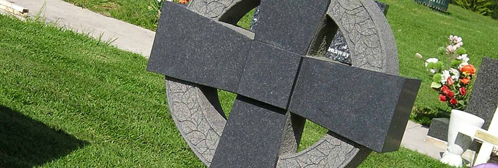 cross headstones and memorials